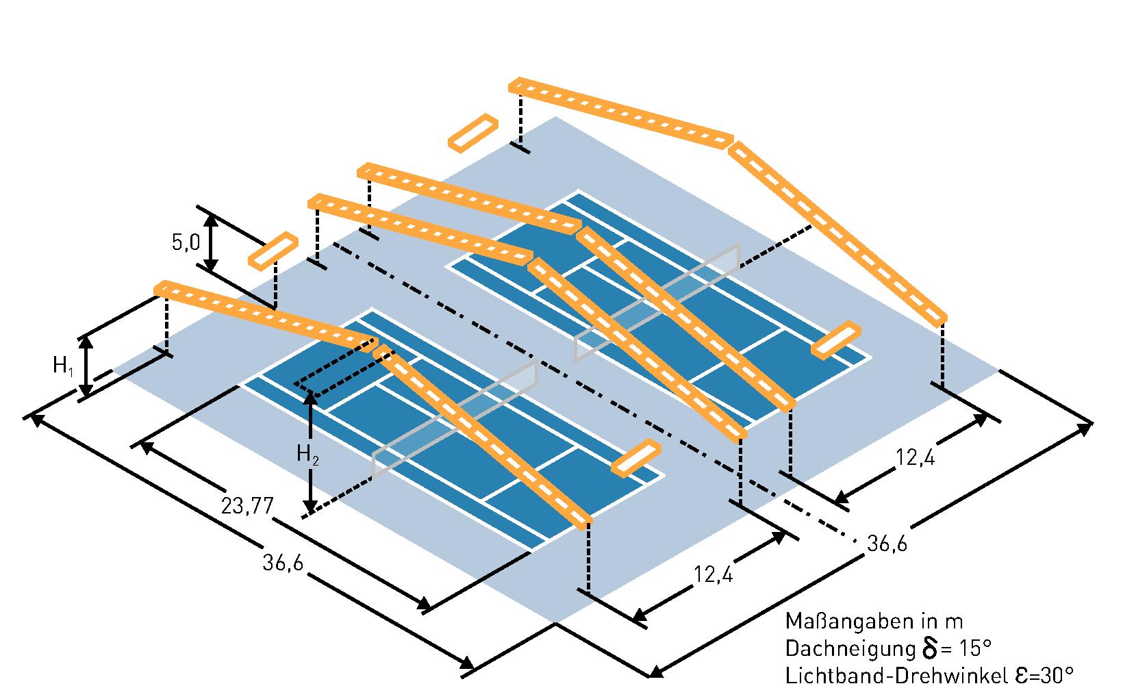 beleuchtung von tennishallen. Black Bedroom Furniture Sets. Home Design Ideas