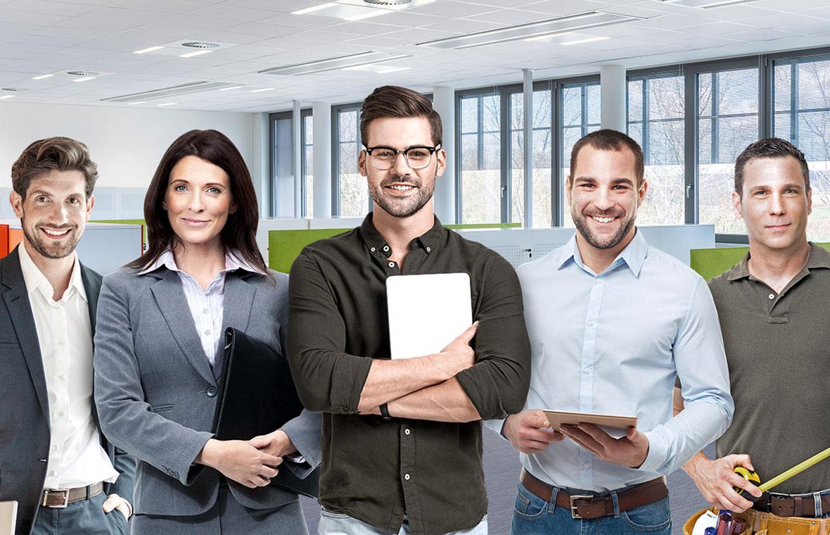 Plafoniere Per Ufficio A Sospensione : Illuminazione led per aree di ingresso e uffici trilux