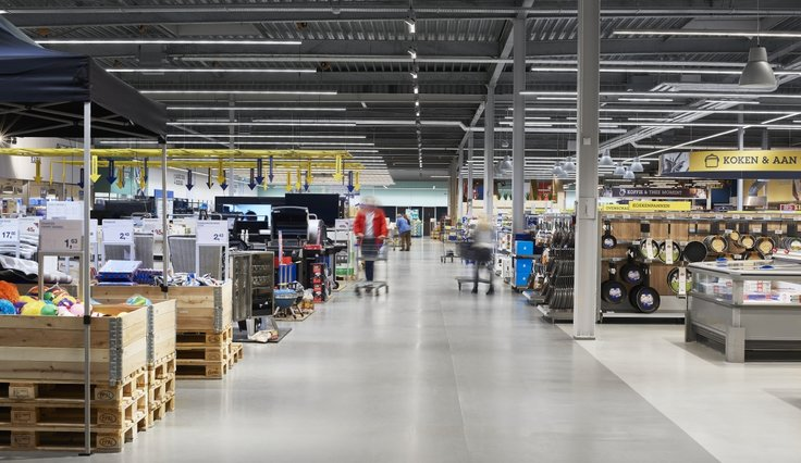 E-Line Next LED in de retailsector