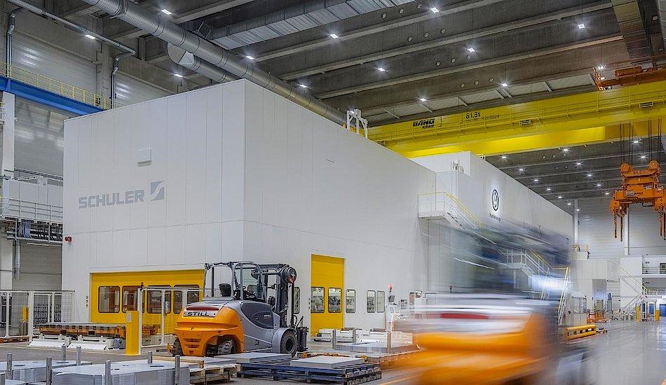 Fábrica de VW Nave 58, taller de prensas