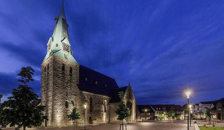 La plaza de la iglesia - Westerkappeln, Alemania