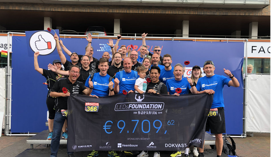 LEDsFoundation did Roparun 2019