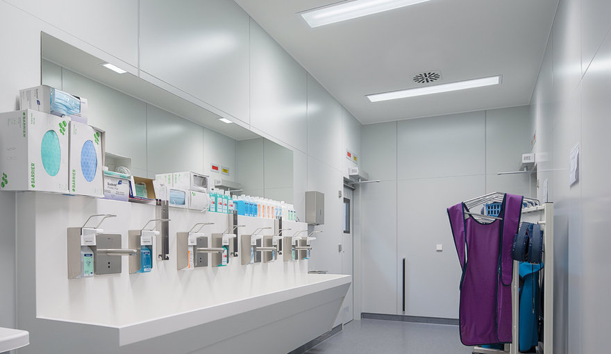 Utility room lighting - LED light for care homes by TRILUX