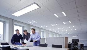 Beleuchtung von Großraumbüros