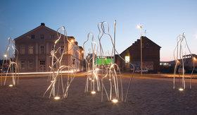 Beleuchtung von Statuen und Brunnen