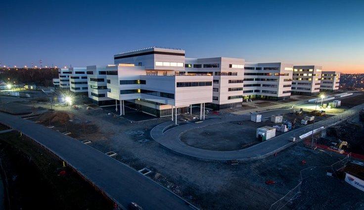 Nieuwbouw van het CHC Montlégia ziekenhuis in Luik